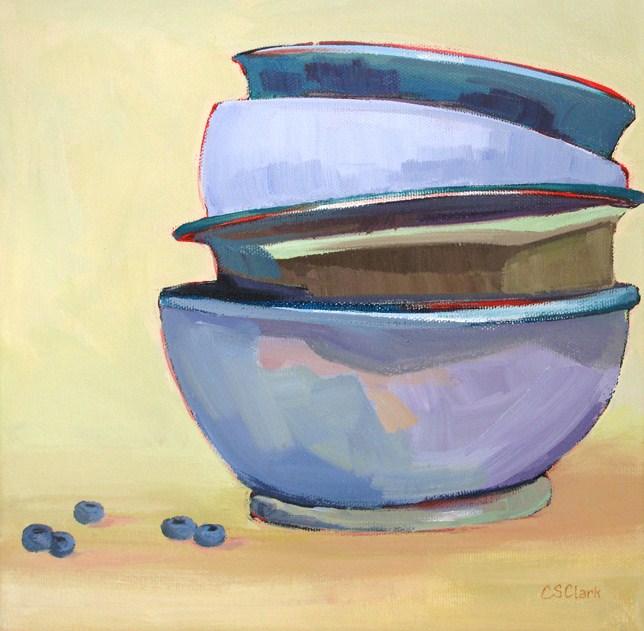 """Berry Nice"" original fine art by Carolee Clark"