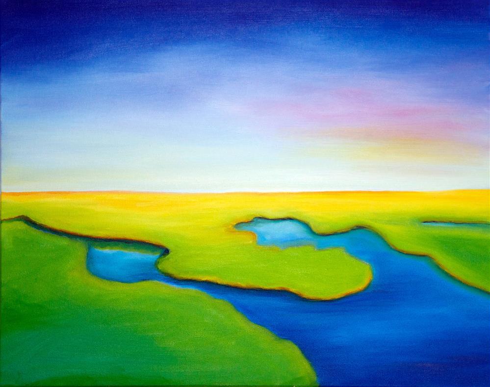 """Marsh Morning"" original fine art by Susan Bertocci"