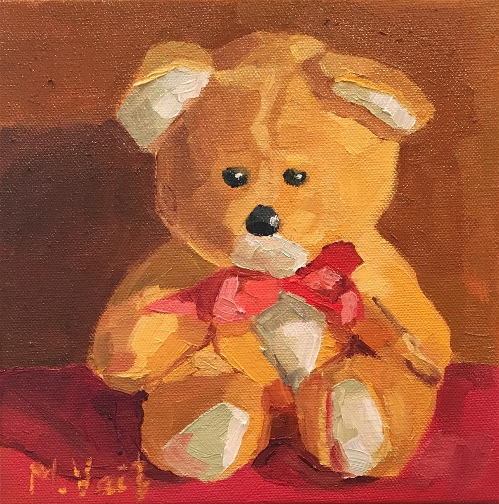 """Teddy Bear"" original fine art by Milda Vaitiekunaite"