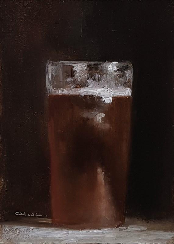 """""""Glass of Beer"""" original fine art by Neil Carroll"""