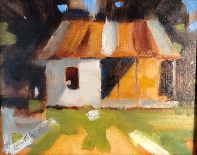 """LITTLE HOUSE"" original fine art by Charlotte Bankhead Hedrick"
