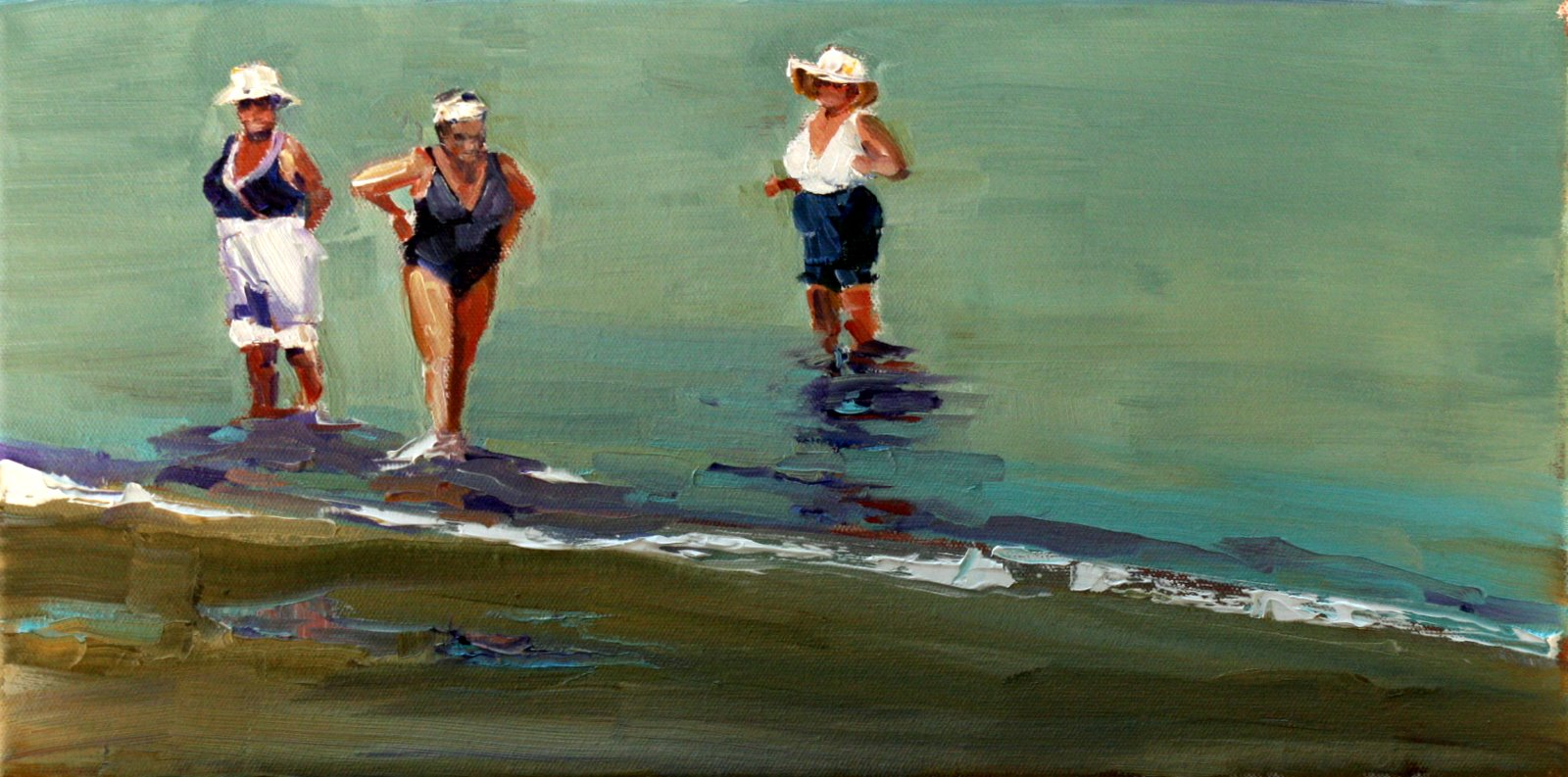 """cooling off"" original fine art by Carol Carmichael"