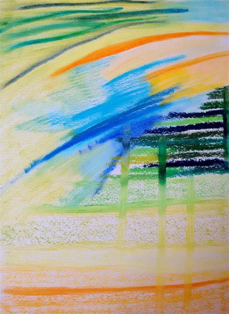 """Flowing from the Sky"" original fine art by Adéla Svobodová"