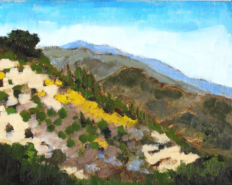 """Santa Barbara Mountains"" original fine art by Kevin Inman"