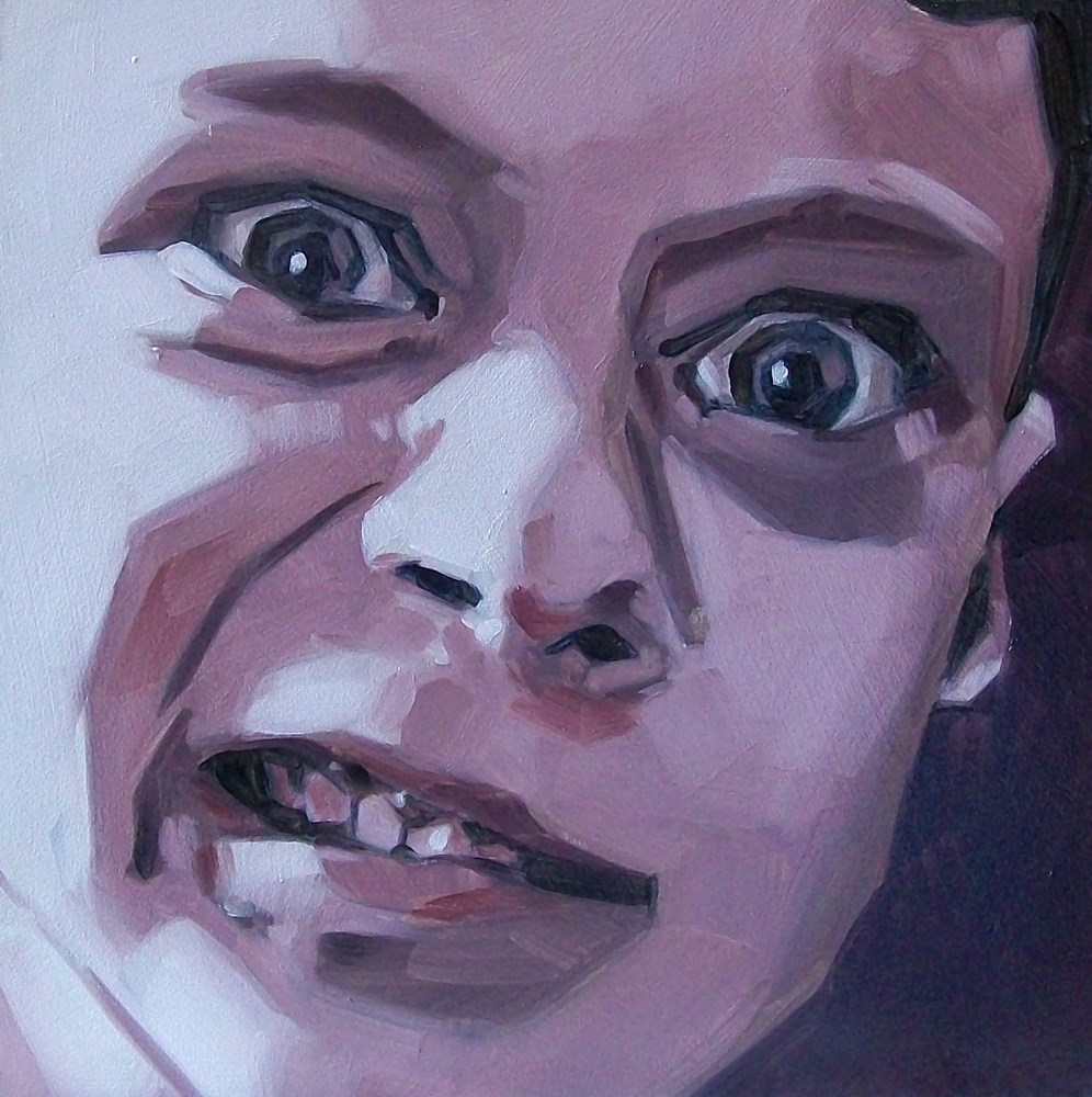 """Crazy eyes"" original fine art by Brandi Bowman"