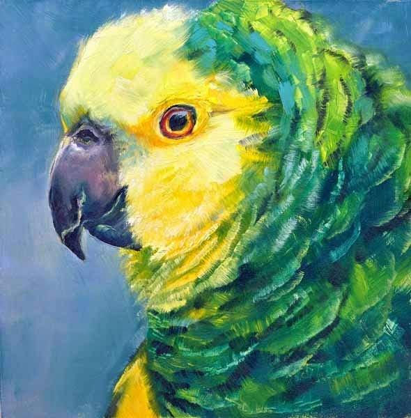 """Polly"" original fine art by Brenda Ferguson"
