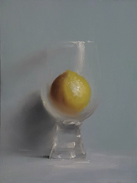 """Lemon in Glass"" original fine art by Neil Carroll"