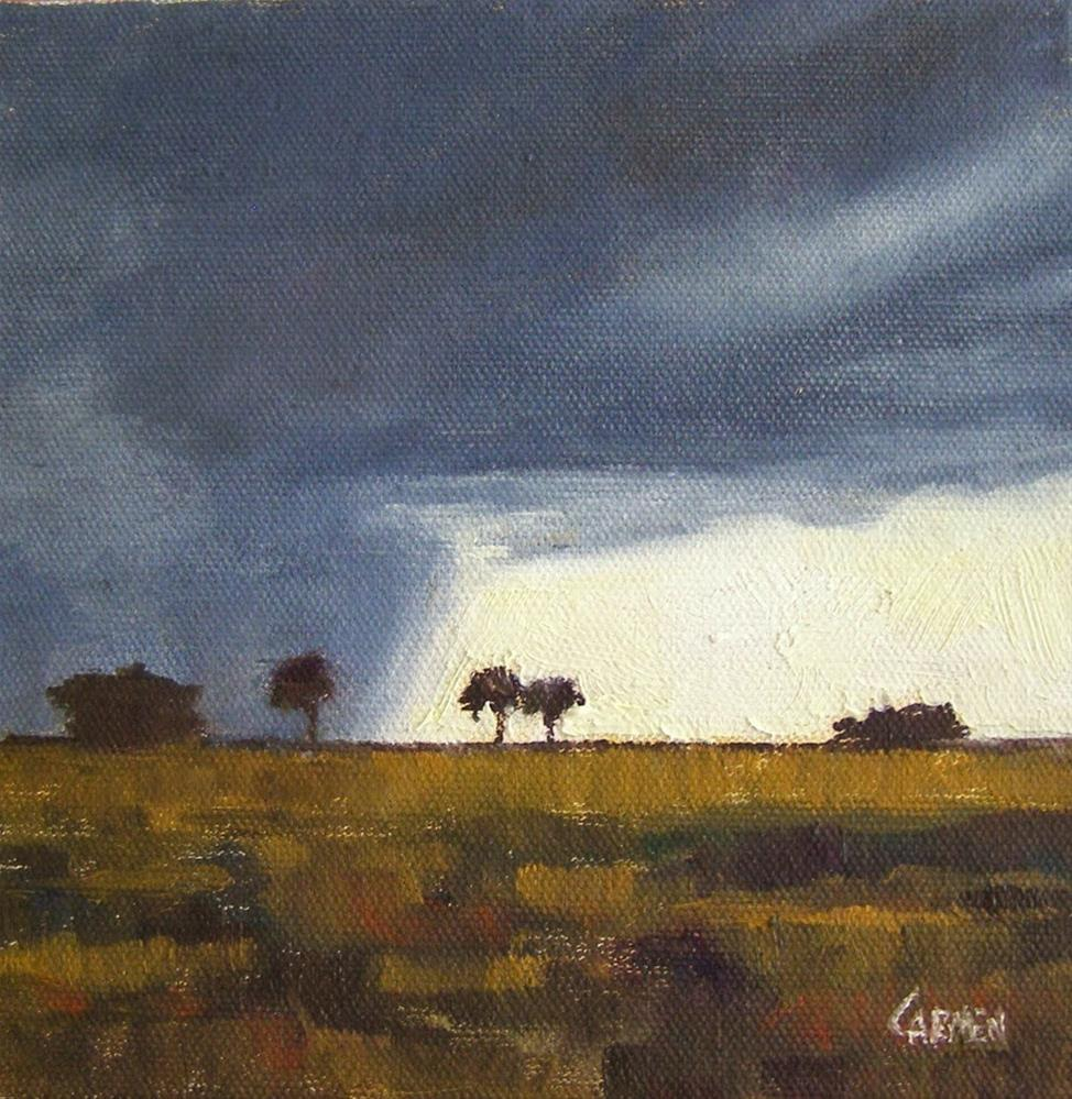 """There Will Be Light, 6x6 Oil on Canvas"" original fine art by Carmen Beecher"