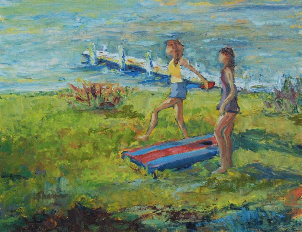 """""""Full Swing"""" original fine art by Shawn Deitch"""