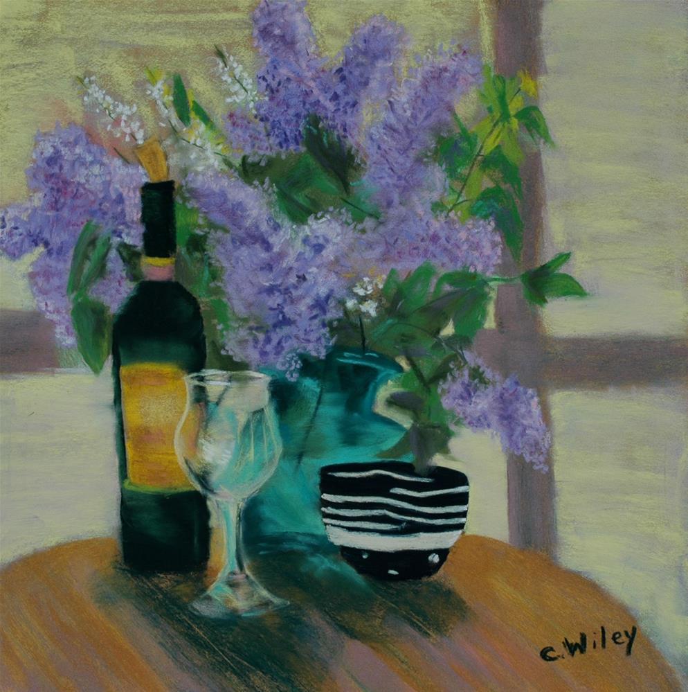 """Mo's Lilacs"" original fine art by Carol Wiley"