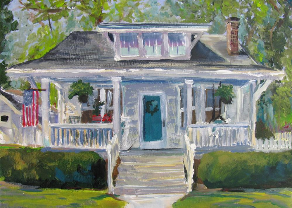 """Windy Acre Cottage"" original fine art by Susan Elizabeth Jones"