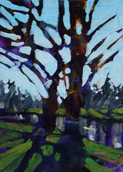 """""""Island Park"""" original fine art by Chris  Breier"""