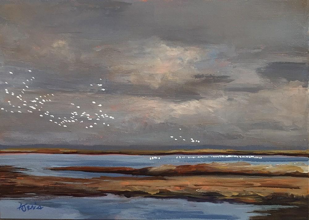 """Flock Together"" original fine art by Andrea Jeris"