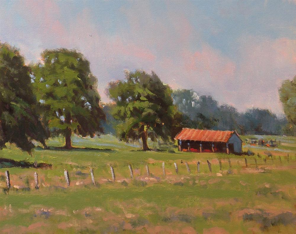 """""""Outside of La Grange"""" original fine art by David Forks"""