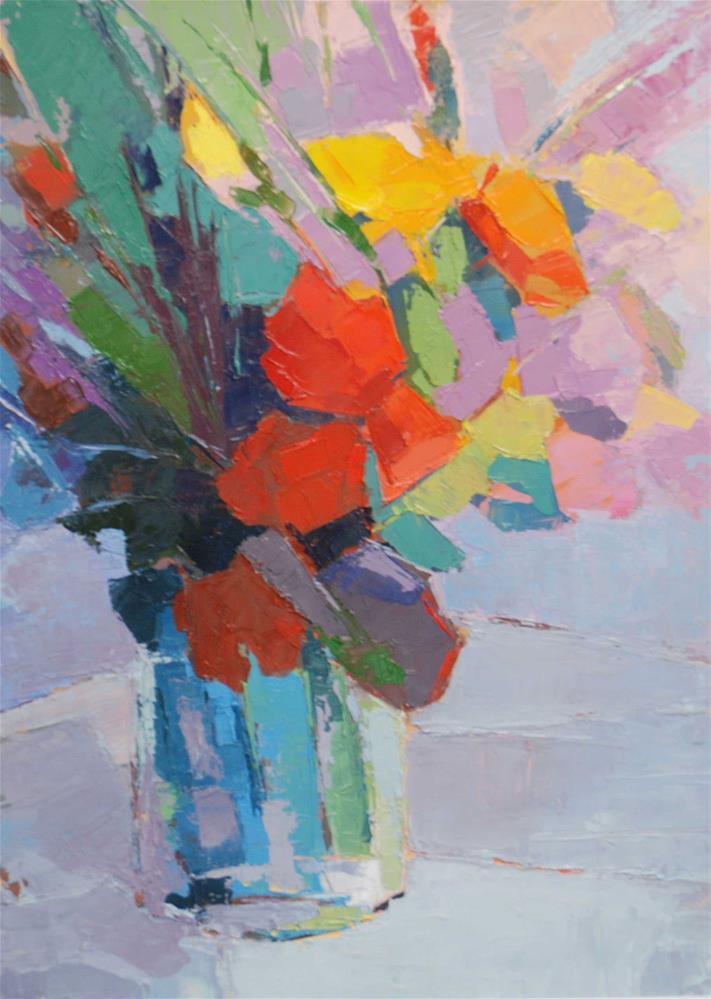 """""""Bouquet of roses"""" original fine art by Olga Touboltseva-Lefort"""