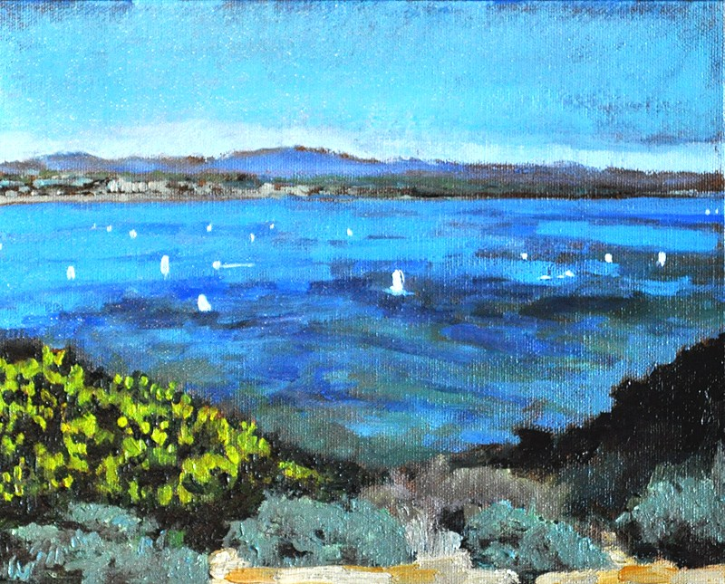 """San Diego Bay from Cabrillo"" original fine art by Kevin Inman"
