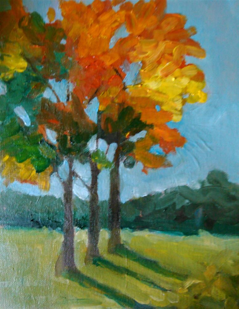 """Thru the Trees"" original fine art by Gerri Obrecht"
