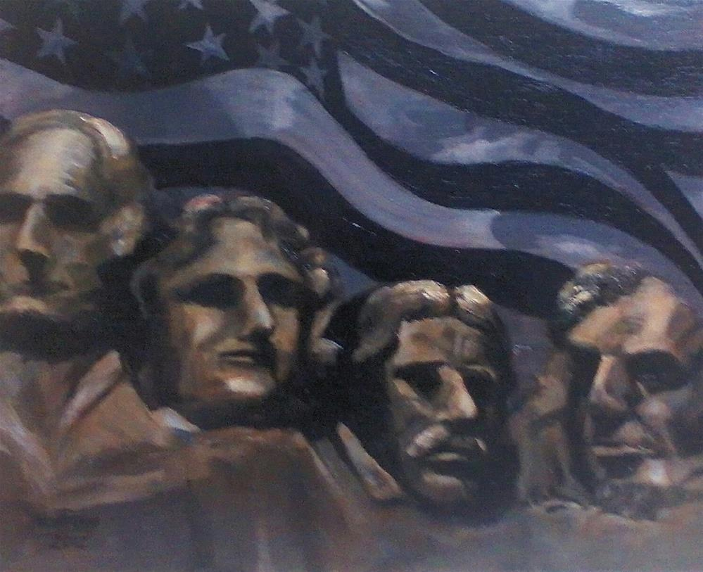 """Rushmore"" original fine art by Nan Perry"