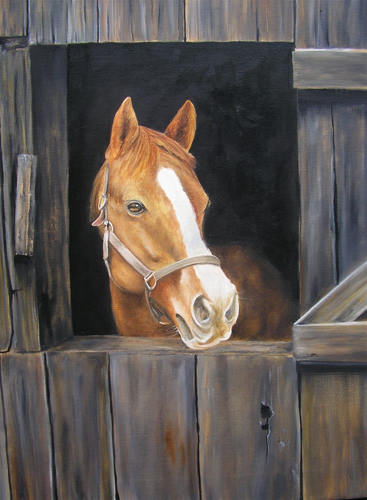 """Patiently Waiting"" original fine art by Terri Nicholson"