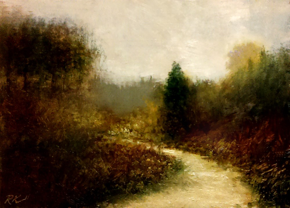 """The Path to the Woods"" original fine art by Bob Kimball"