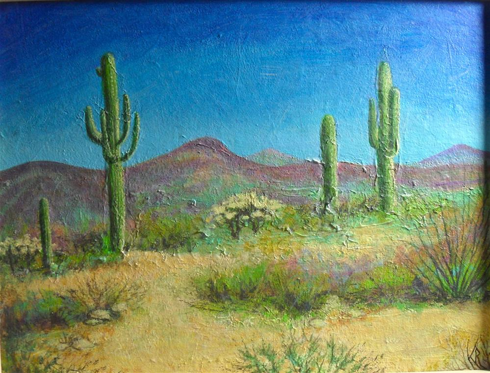 """Dry Heat"" original fine art by Karen Roncari"