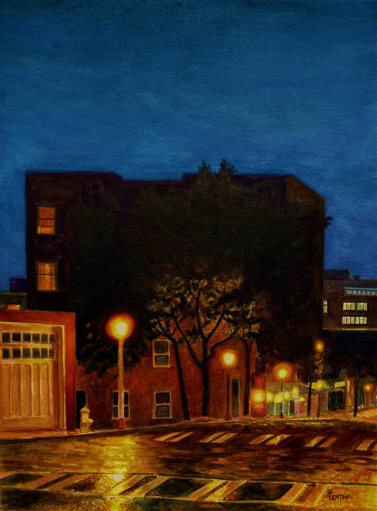 """Rainy Spring Night"" original fine art by Peter Lentini"