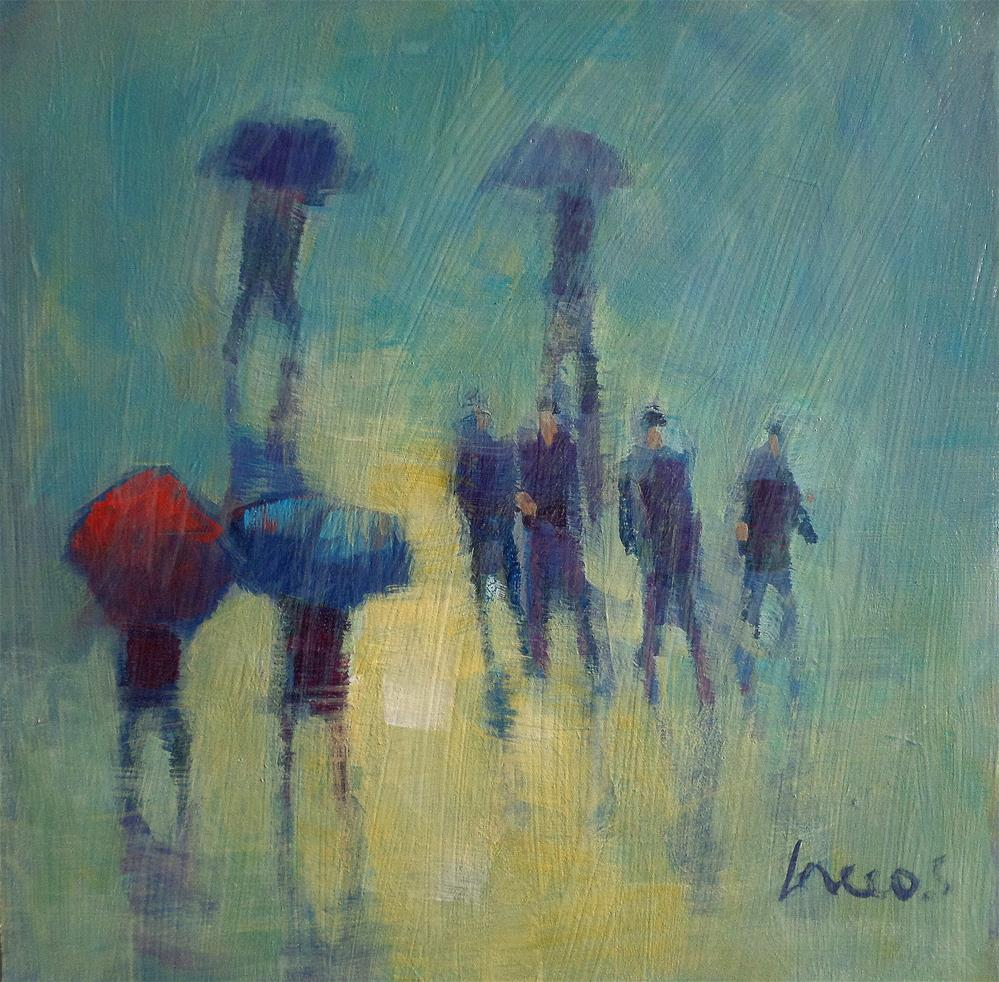 """in the rain"" original fine art by salvatore greco"