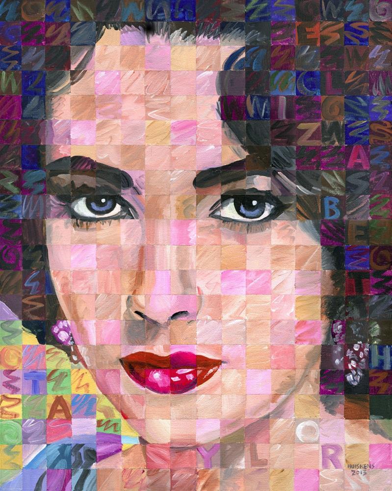 """Elizabeth Taylor #2"" original fine art by Randal Huiskens"