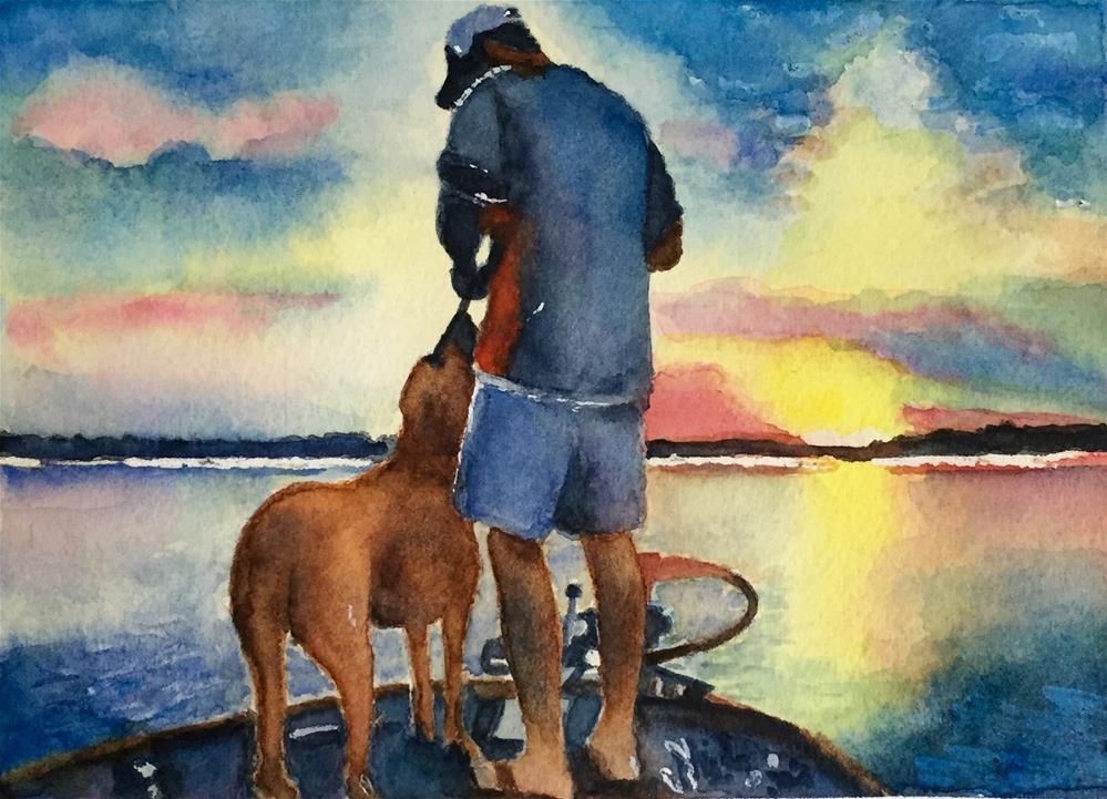 """Fishin' with My Boy"" original fine art by Melissa Gresham"