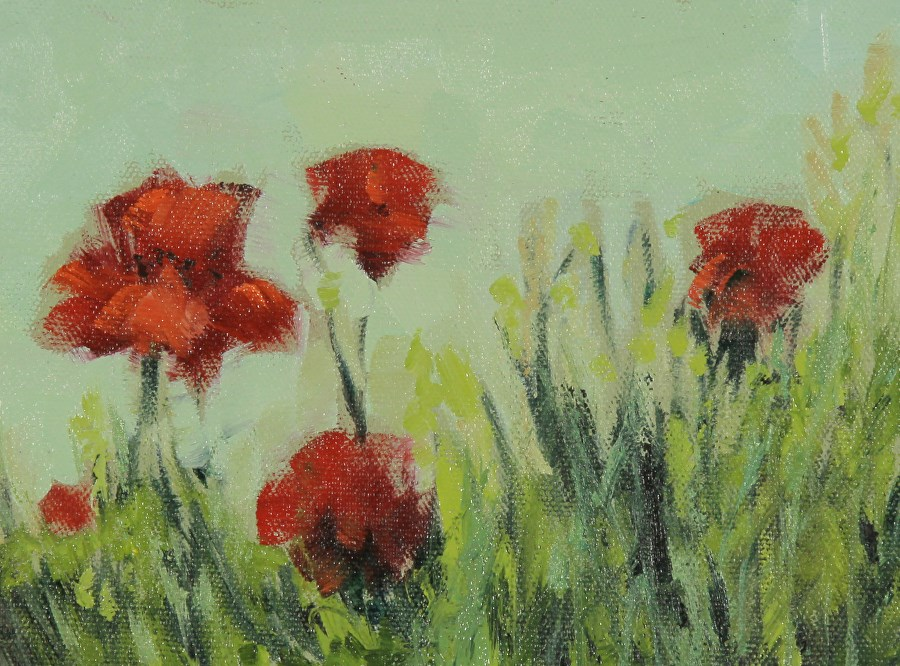 """Poppies,Flower Oil Painting Poppies by Colorado Artist Susan Fowler"" original fine art by Susan Fowler"