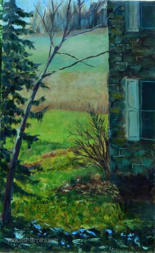 """""""Dale Engle Walker House"""" original fine art by Lina Ferrara"""