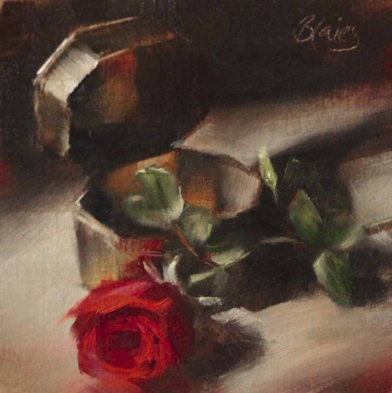 """""""Little Brass Box"""" original fine art by Pamela Blaies"""