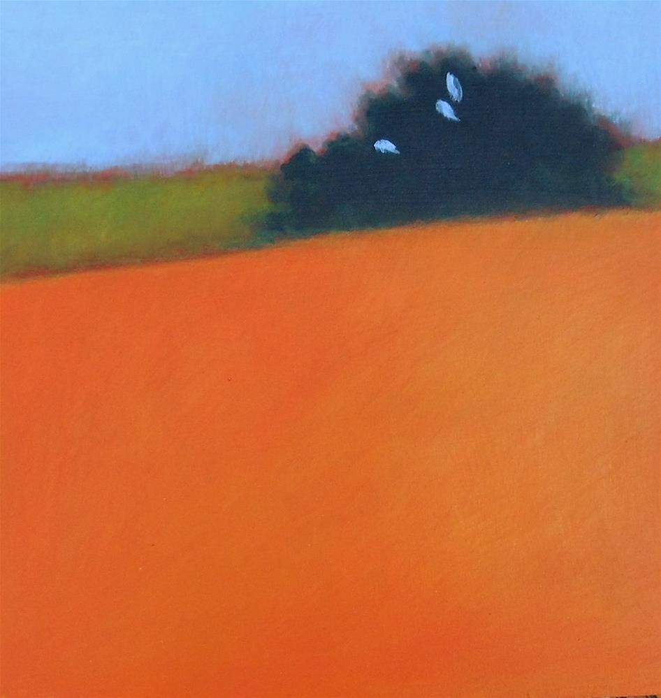 """Prairie Thicket"" original fine art by Almira Hill Grammer"
