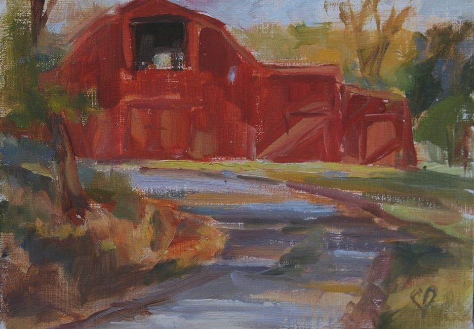 """Down the Lane"" original fine art by Carol DeMumbrum"