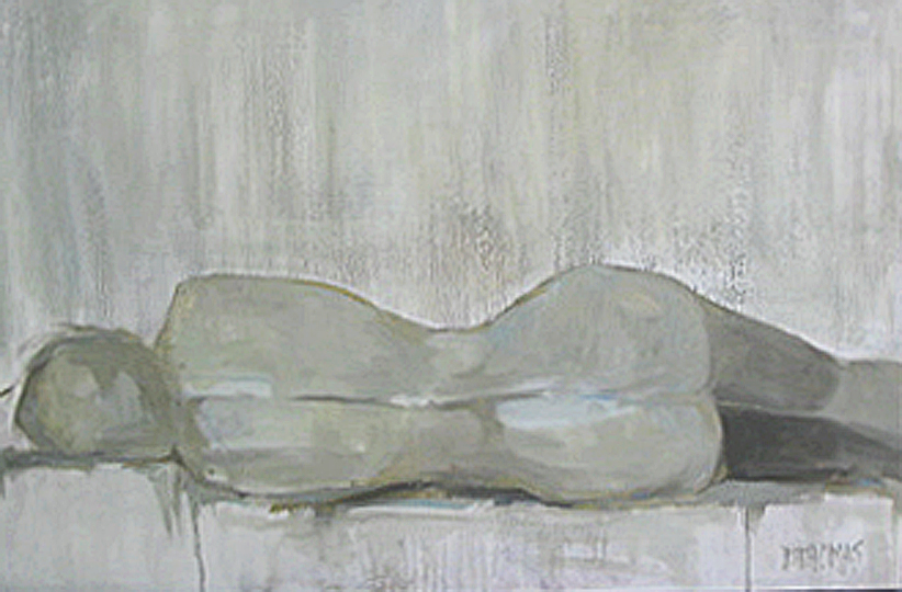 """Nude Study"" original fine art by Donna Thomas"