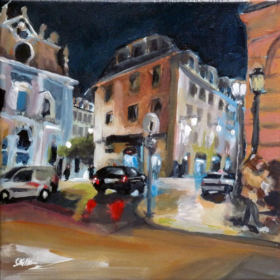 """1269 Lisbon by Night"" original fine art by Dietmar Stiller"