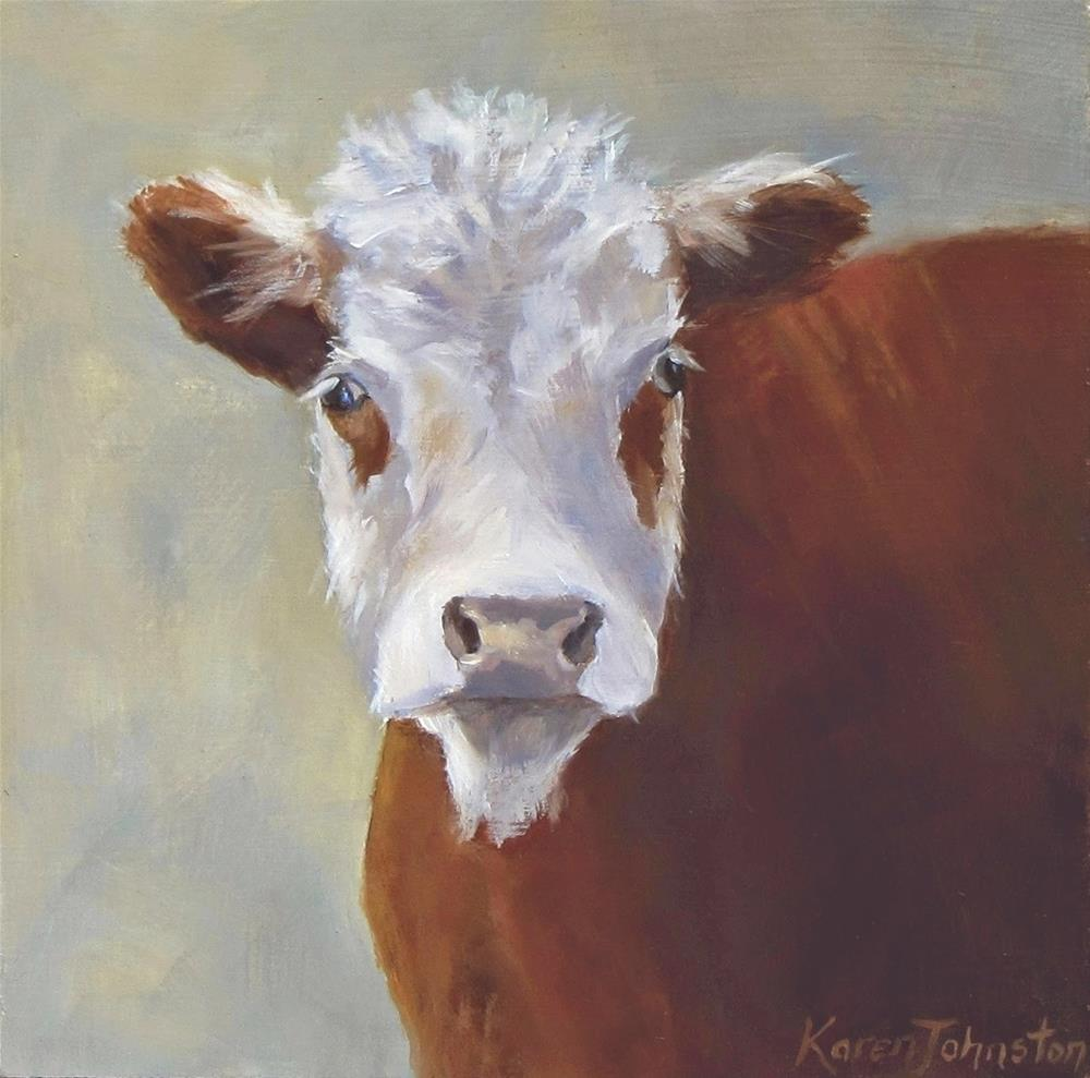 """Brown Eyed Boy"" original fine art by Karen Johnston"