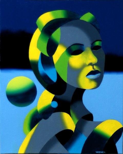 """Mark Adam Webster - Dark Matter Painting Series #5"" original fine art by Mark Webster"