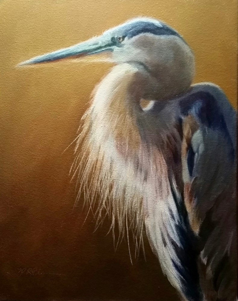 """Preened Nobility"" original fine art by Marilyn R. Place"
