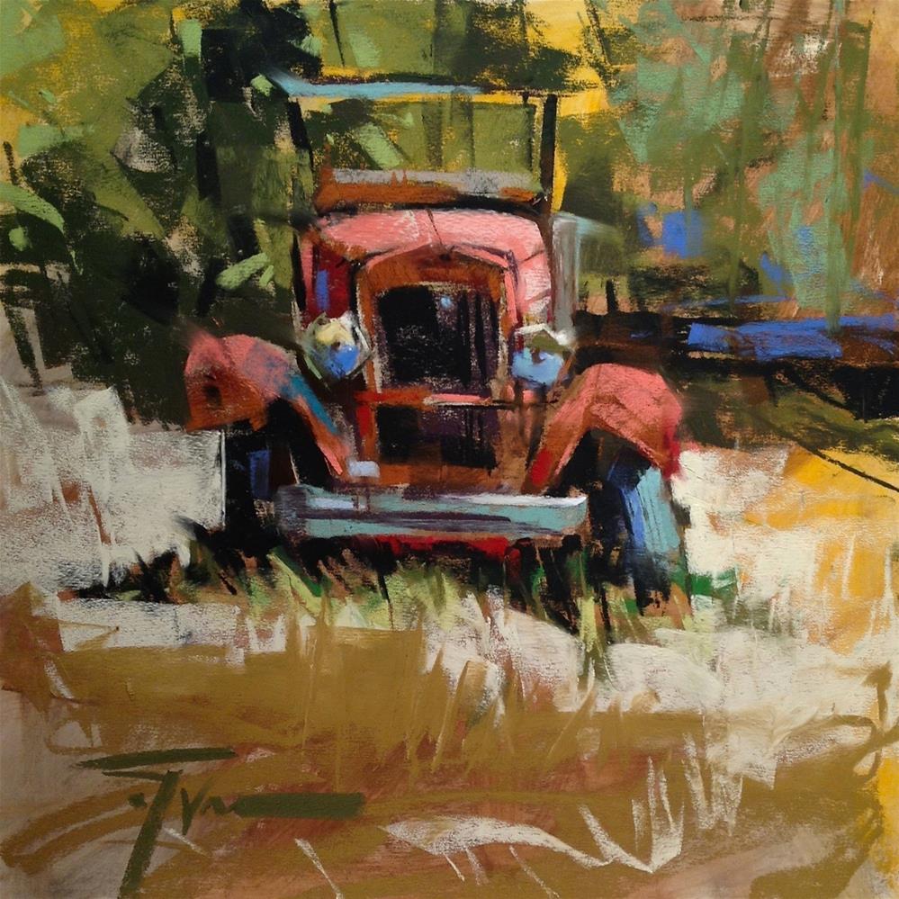 """Gramp's Ride"" original fine art by Jennifer Evenhus"