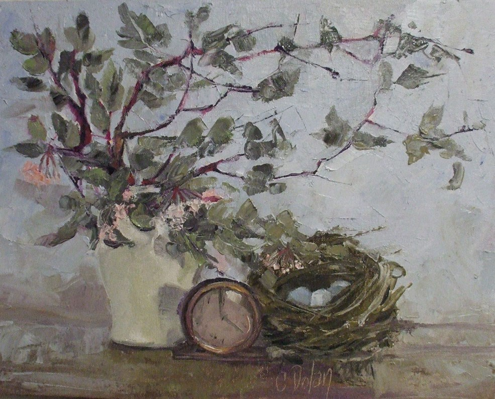 """Manzanita and Nest at 5 o'clock"" original fine art by Cheryl Williams Dolan"
