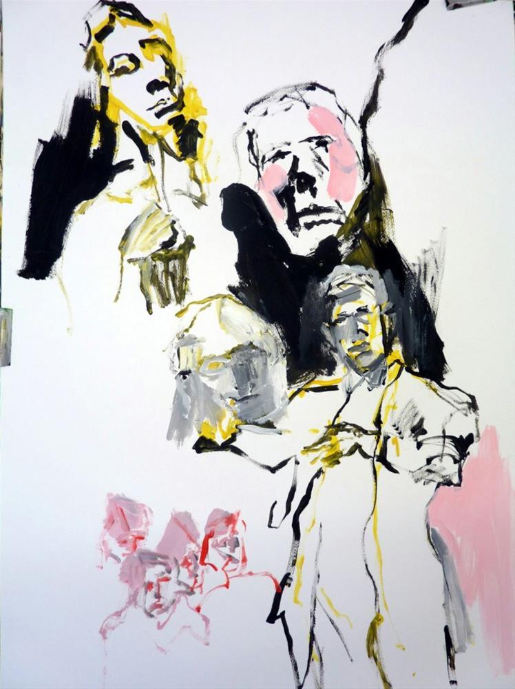 """""""auf einem Konzert /  at a concert"""" original fine art by Mila Plaickner"""
