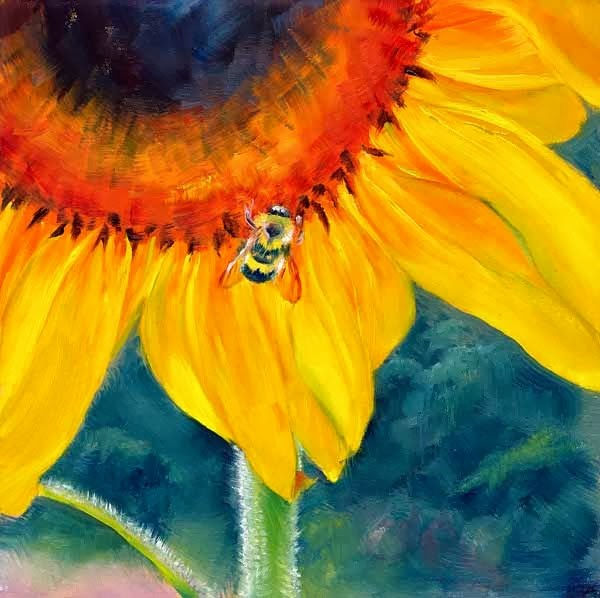 """Don't Worry Bee Happy"" original fine art by Brenda Ferguson"