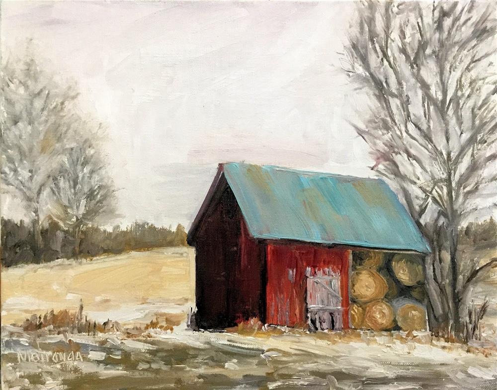 """Winter Barn"" original fine art by Patricia Matranga"
