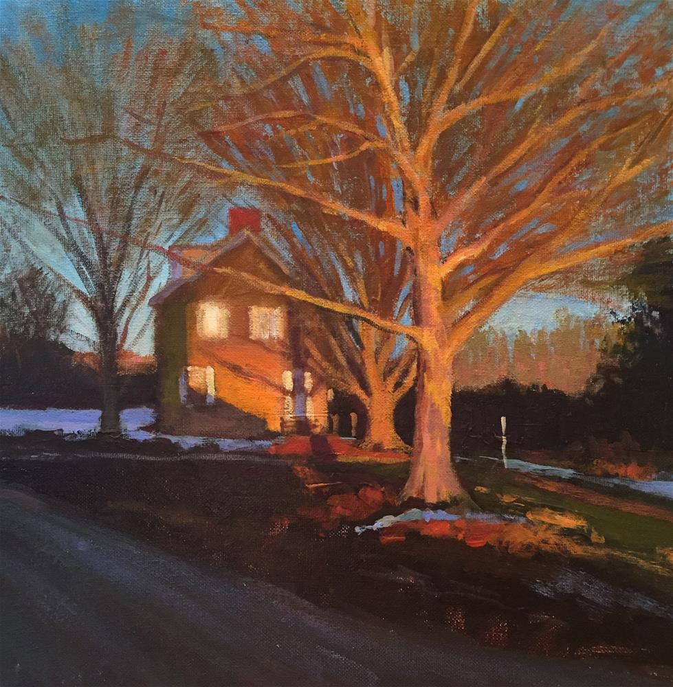 """Bucks County Sunset"" original fine art by Joe Gyurcsak"