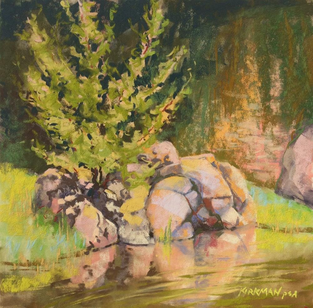 """Tenacity - a Plein Air warm-up, and workshop reminder!"" original fine art by Rita Kirkman"