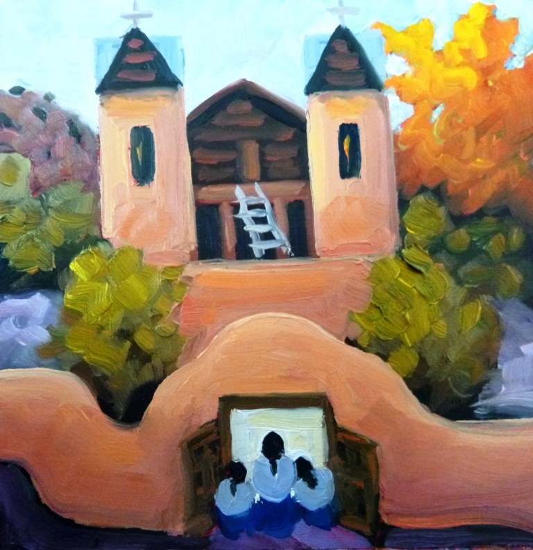 """58 CHIMAYO GLOW"" original fine art by Dee Sanchez"