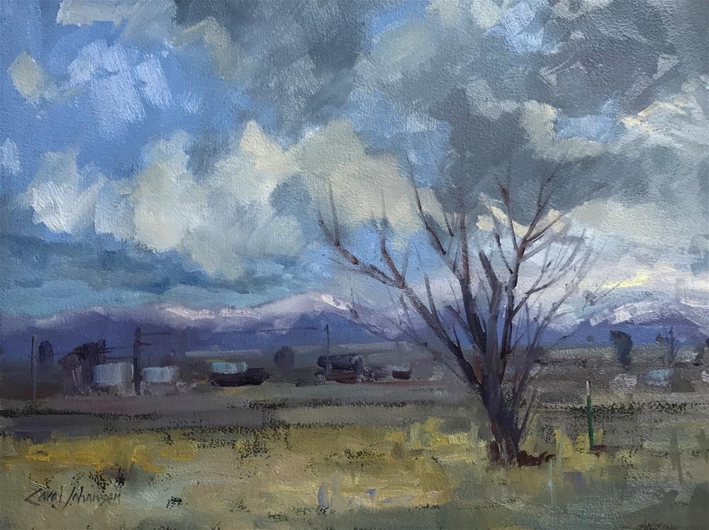 """54 Moody Sky"" original fine art by Carol Johansen"