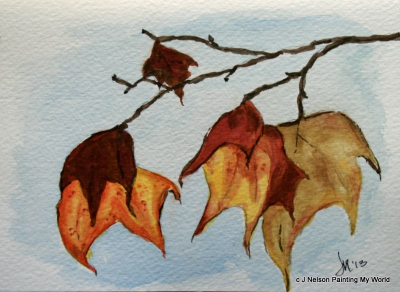 """Turning Leaves"" original fine art by Jean Nelson"