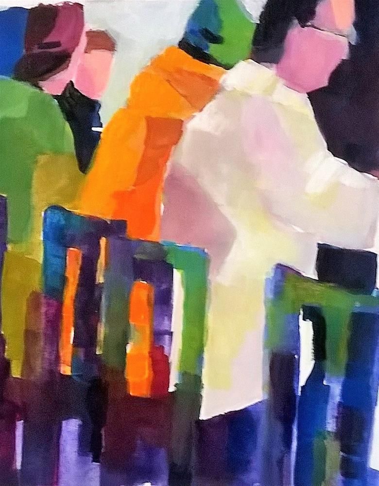 """Catching Up"" original fine art by Laurie Mueller"